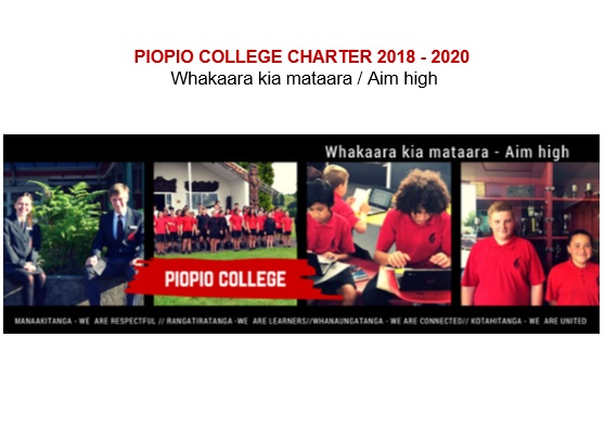 Piopio College Charter 2018 to 2020